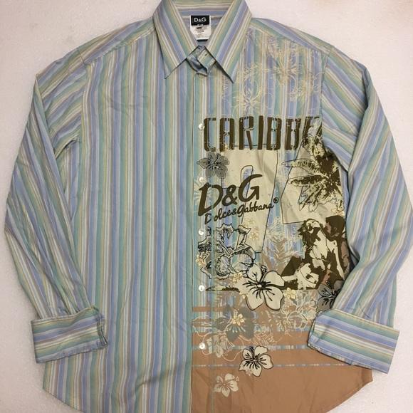 050eea74 Dolce & Gabbana Other - D&G Dolce Gabbana Caribbean Shirt Men Size ...